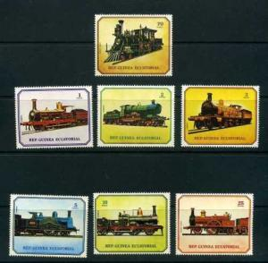 Equatorial Guinea #7868-7874 MNH Locomotives Trains CV€3.50