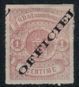 Luxembourg #O1* tiny thin  CV $27.50