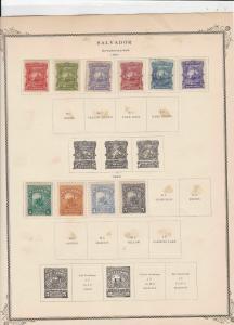 salvador stamps page ref 17197