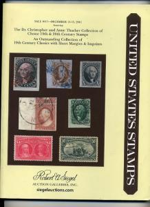 Siegel Auction Sale 1017 of19th Century US classics