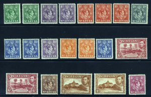 ST LUCIA KG VI 1938-48 Part Set with Perf. Varieties SG 128 to SG 136a MINT