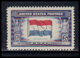 912 5c Flag of Luxembourg Fine MNH W3856
