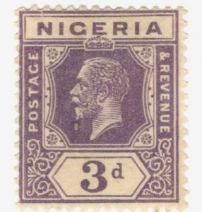 1914 Nigeria SC #25 KGV MH stamp