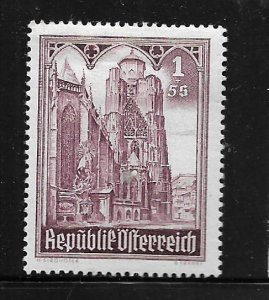 AUSTRIA, B197, MINT HINGED HINGE REMNANT, CATHEDRAL