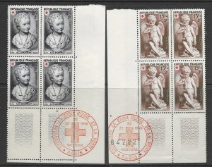 France B255-6 MNH block of 4, vf see desc. 2019 CV$17.00