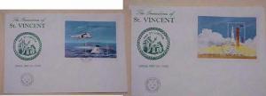 ST.VINCENT GRENADINE 2  FDC SPACE SHEETLET 1989 CACHET UNADDRESSED