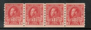 Canada #MR6 Mint Fine - Very Fine Never Hinged Coil Strip **With Certificate**