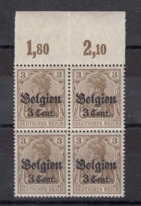 Germany Lithuania 1916 3pf Postgebiet O/P Block of 4 X9722