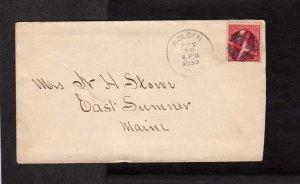 ME East Sumner Maine Stamp Cover Fancy Cancel 1895