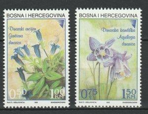 Bosnia Herzegovina 2002 Flowers 2 MNH Stamps