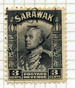 SARAWAK;  1934 early Charles Brooke issue used 3c. value