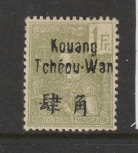 Kouang Tcheou (French PO)  a MH 1Fr from 1906