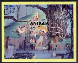 Antigua 1980 Christmas Scenes from Walt Disney's Sleepin...