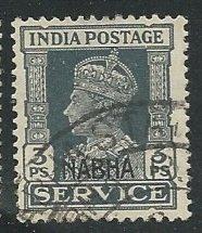 India - Nabha     Scott # O40 - Used