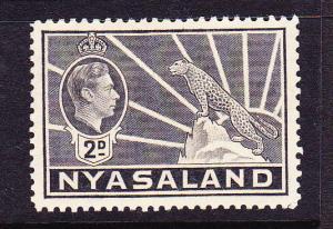 NYASALAND 1938 2d  KGVI  MLH  SG 133