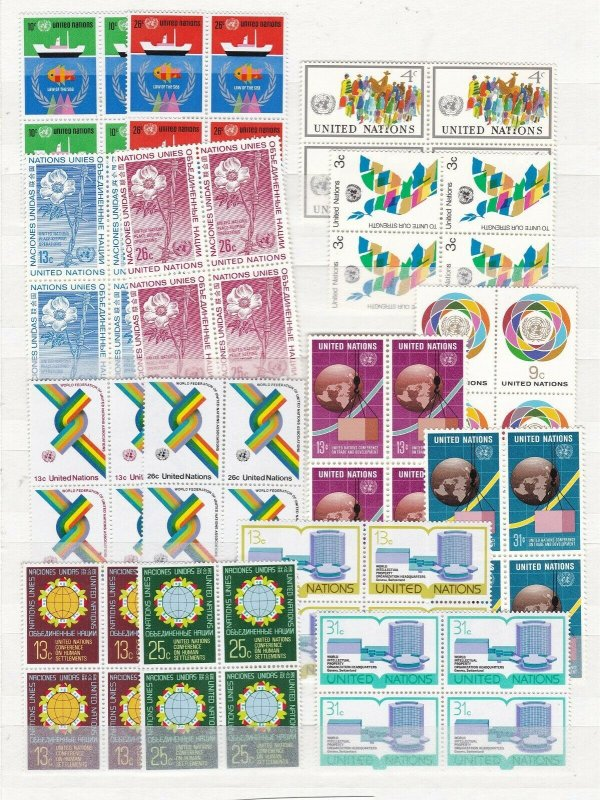 UNITED NATIONS ^^^^^x15  BLOCKS of 4    MNH++  collection  $$@ dccc236un