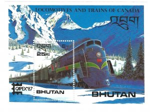 Bhutan 606  SS Mint NH VF 1987 PD