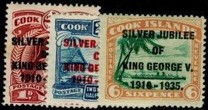 COOK ISLANDS SG113-115, COMPLETE SET, M MINT. Cat £12.