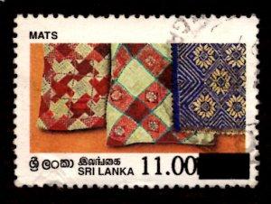 Sri Lanka SURCHARGED 1997 Mats Handicrafts 11r on 10.50r Scott.1190 Used (#3)