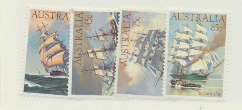 Australia Scott #894 To 897, Mint Never Hinged MNH, Clipper Ships Issue From ...