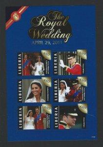 Liberia souvenir sheet  mnh  sc #  2772-2774