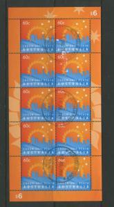 Australia - Scott 3586-Heads of Government - 2011 -VFU- Sheet of 10 Stamps