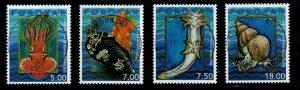 Faroe Islands Sc 409-12 2002 mollusks stamp set used