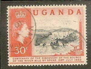 Uganda   Scott 79   Waterfall   Used