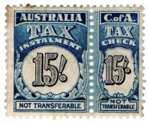 (I.B) Australia Revenue : Tax Instalment 15/-