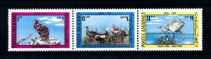 [92010] Afghanistan 1974 Birds Vögel Oiseaux Eagle Goose Strip of 3 MNH