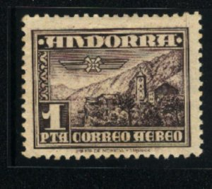 Andorra-Spanish Administration #C1   Mint NH VF 1951  PD