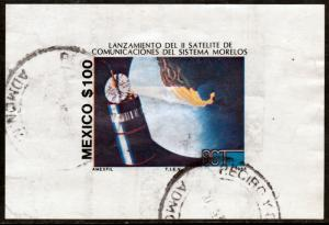 MEXICO 1423, Launch of Morelos II Telecom Satellite, Souv Sheet USED. F-VF (88)