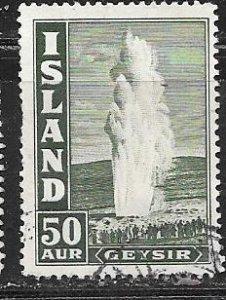 Iceland #208   50a  Geyser    (U) CV $1.10