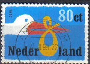 NETHERLANDS, 1999 used 80c