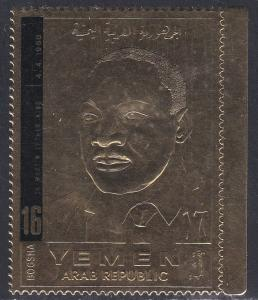 Yemen (North) M 809, Martin Luther King, Gold Foil, Perf, NH