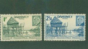 DAHOMEY 135-36 MH BIN$ 1.50