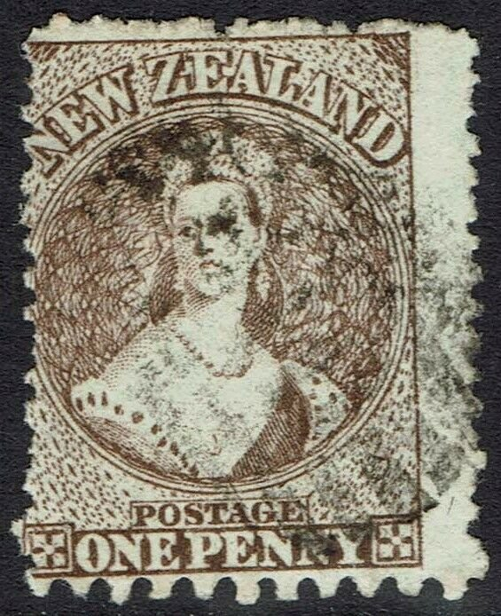NEW ZEALAND 1871 QV CHALON 1D WMK STAR COMPOUND PERF 12.5 AND 10 USED