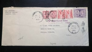 """VERY RARE IRAQ 1953 FAISAL II ERA STAMPS """"CANCELLED USA"""" COVER VERY FEW KNOWN"""