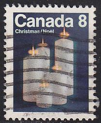Canada 607 Christmas Candles 1972