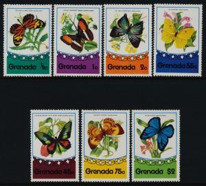 Grenada 660-6 MNH Butterflies, Flowers