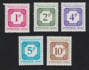 Tristan da Cunha Postage Due 5v Watermark Ww14 SG#D11-D15
