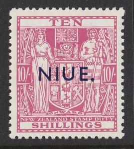 NIUE 1941 Arms 10/- MNH ** wmk single NZ Star