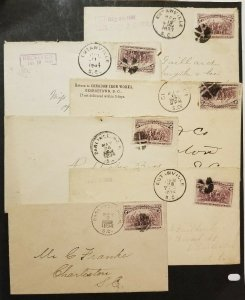 Miscellaneous lot of TEN Covers, 1893 to Charleston, SC  All with Scott #231