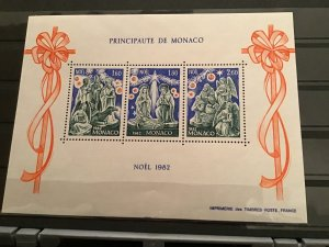 Monaco 1982 Christmas mint never hinged   stamps sheet R23934