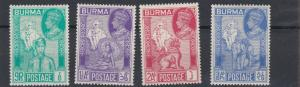 BURMA  1946  S G 64 - 67  VICTORY SET  MH