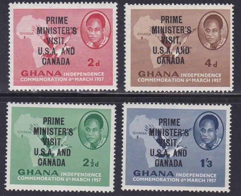 Ghana # 28-31, Prime Ministers Visit to U.S. LH, 1/4 Cat