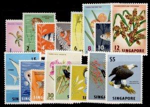 SINGAPORE QEII SG63-77, complete set, NH MINT. Cat £60.