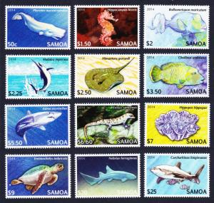 Samoa Threatened Species Definitives Part 2 SC#1167-1178 SALE BELOW FACE VALUE