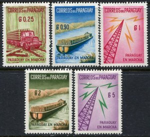 Paraguay; 1961: Sc. # 577-581: */MH Cpl. Set