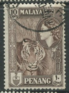 STAMP STATION PERTH Penang #50 QEII Definitive Used 1957